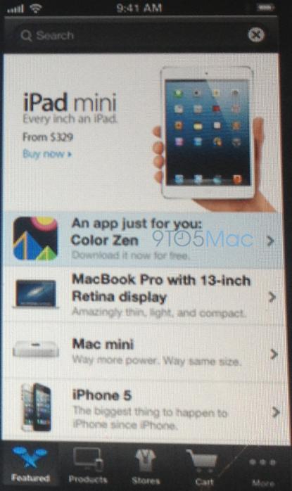 nieuwe Apple Store app