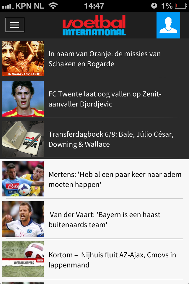 voetbal international app
