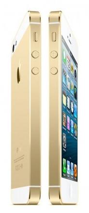 gouden iphone bevestigd