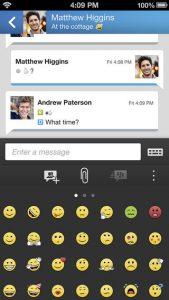 BlackBerry Messenger voor iOS 2