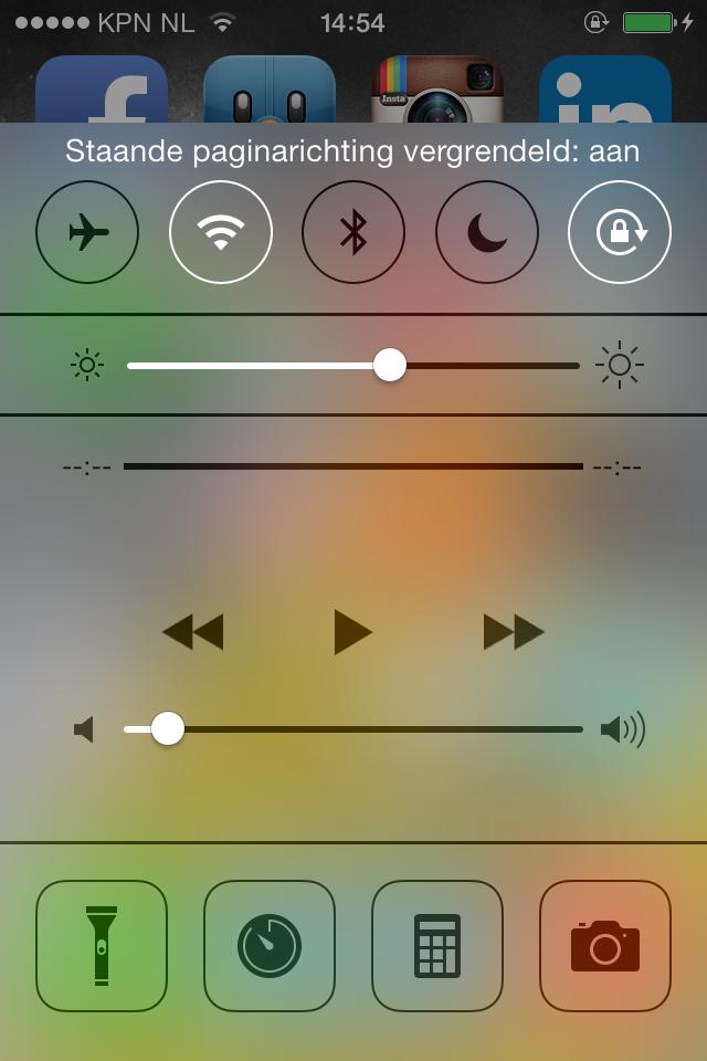 iPhone kantelen