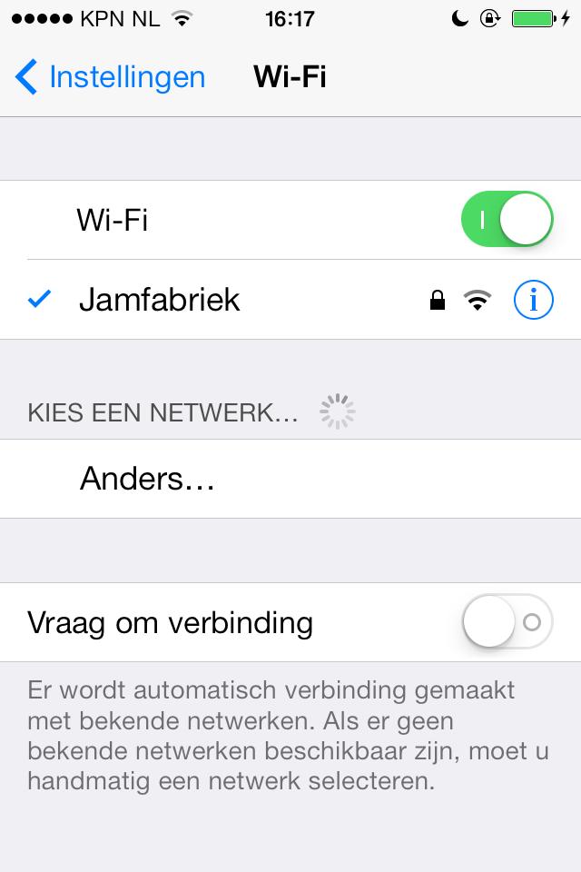 wifi op iPhone