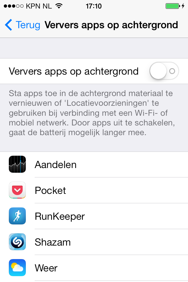 iPhone apps verversen