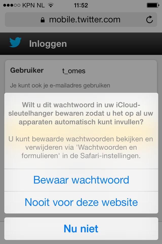 iCloud sleutelhanger