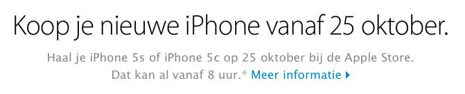 iPhone 5s verkoop