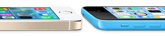 iPhone 5C en iPhone 5S