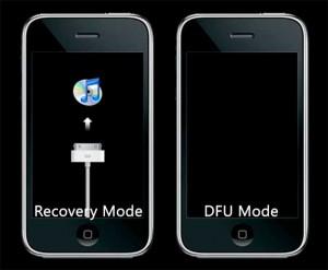 iPhone DFU modus