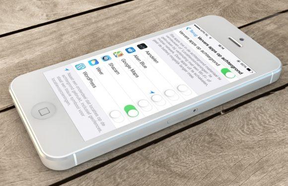 Op achtergrond verversende iPhone-apps aan- of uitzetten
