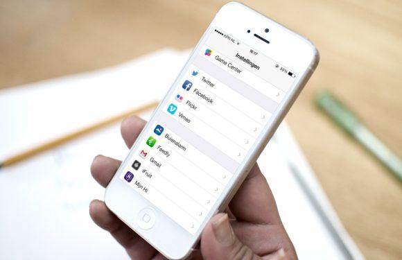 iPhone deelfuncties instellen