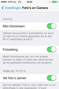 iphone fotostream instellen
