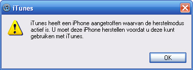 iphone herstelmodus
