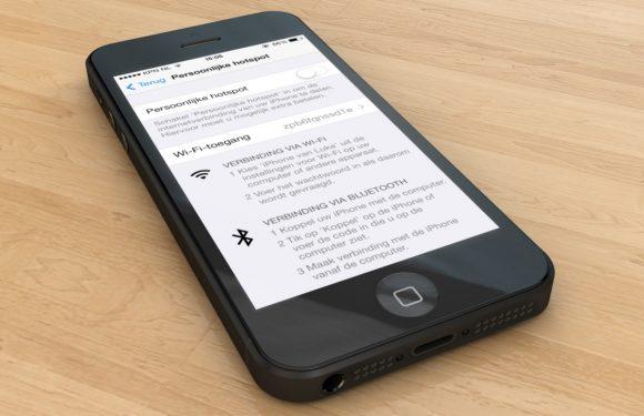Tethering op je iPhone instellen