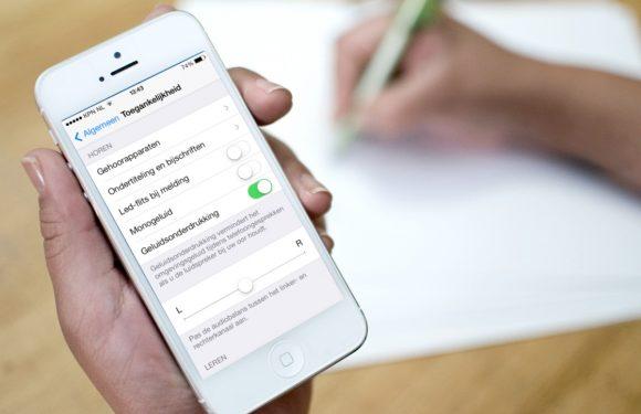 iPhone led meldingen inschakelen