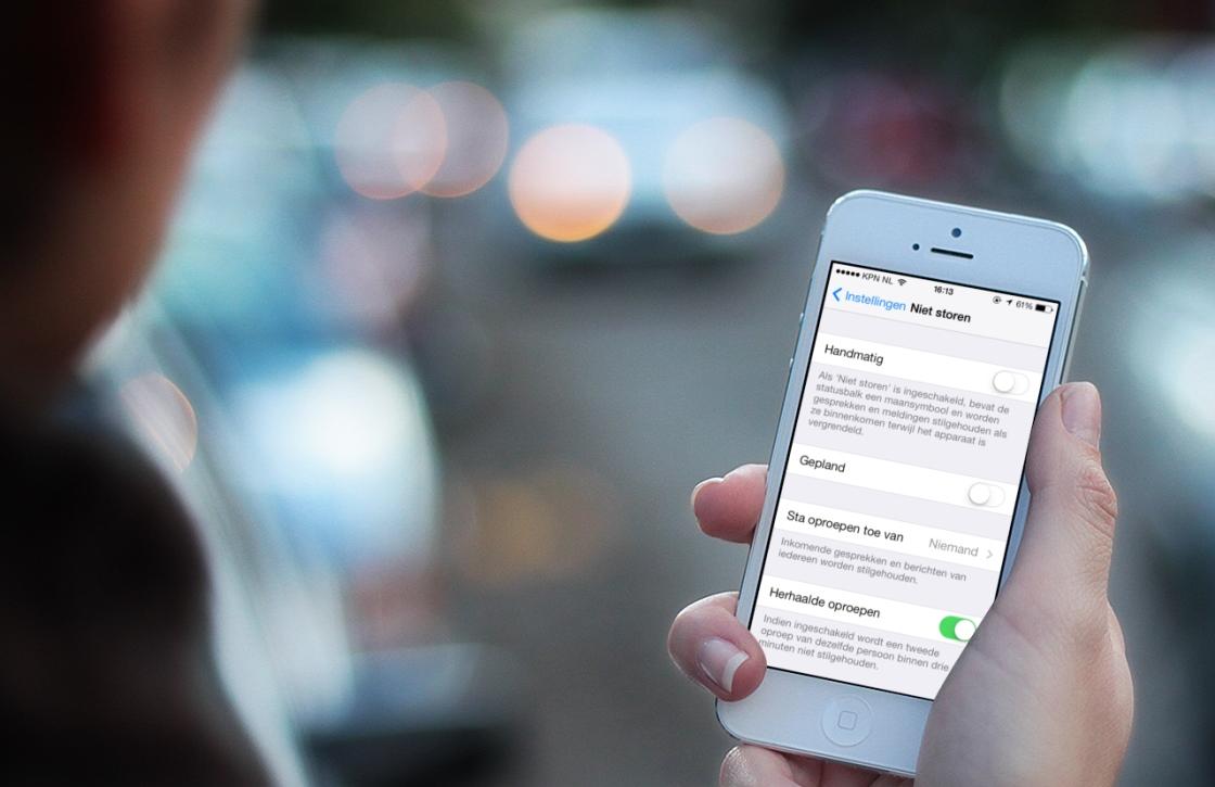 Niet storen instellen op iPhone