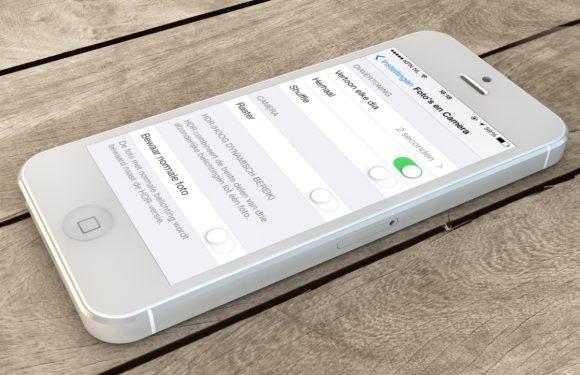 iOS 7 camera raster inschakelen