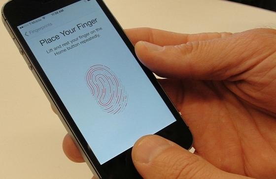 Apple video van de Touch ID vingerafdrukscanner