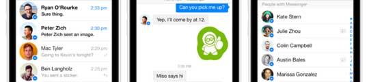 Nieuwe Facebook Messenger verschenen