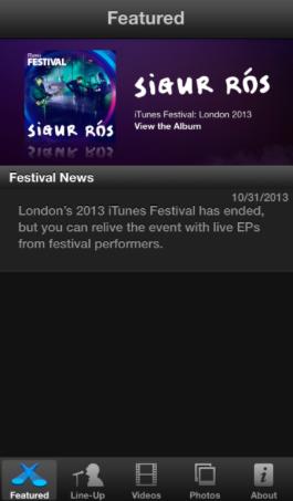 itunes festival app