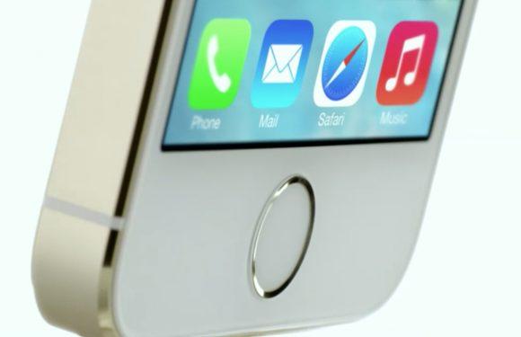 'iPhone 5S vingerafdrukscanner wordt trackpad'