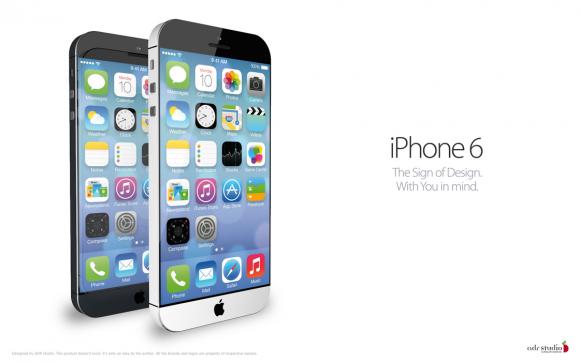 'Apple experimenteert met iPhone 6 met 4,9 inch-scherm'