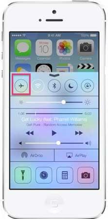 iPhone bij vertrek