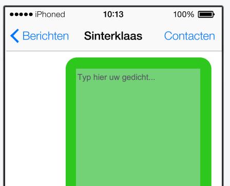 iPhone surprise gedicht invoegen
