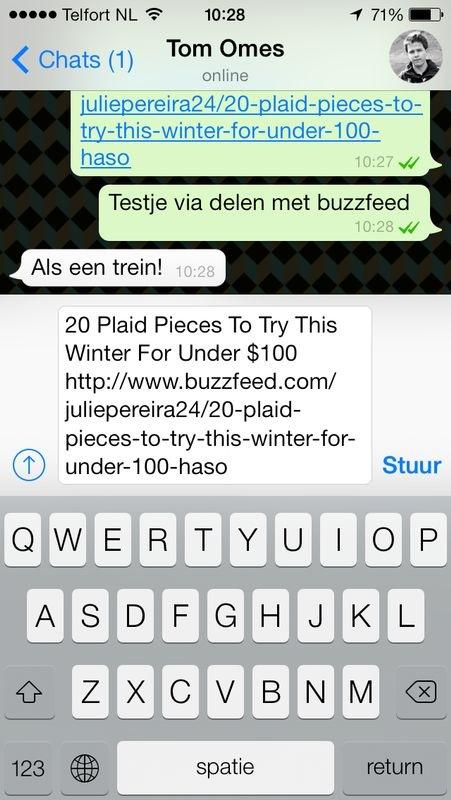 Delen naar Whatsapp