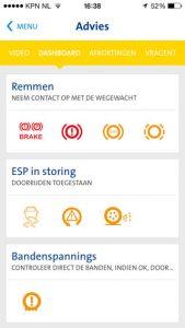 Wegenwacht-app iPhone