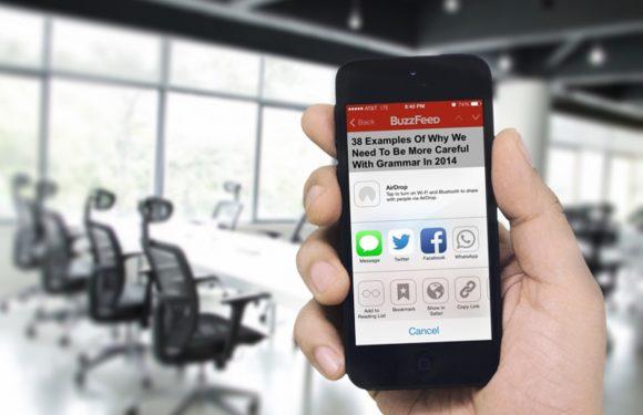 'Delen naar WhatsApp' duikt op in BuzzFeed app