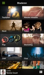 gratis Spotify interface