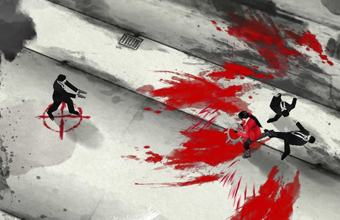De straten kleuren rood in Bloodstroke voor iPhone