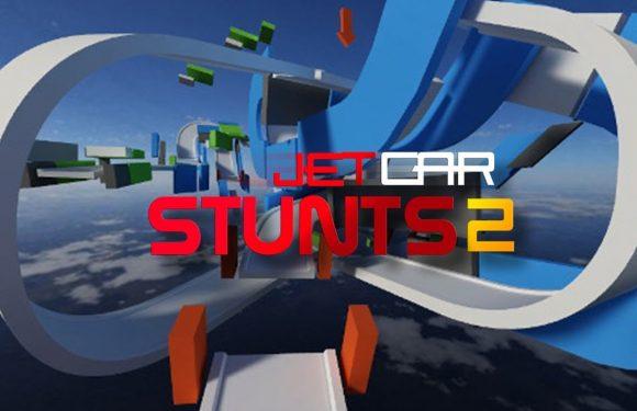 Stunt, race en ontwerp je eigen tracks in Jet Car Stunts 2
