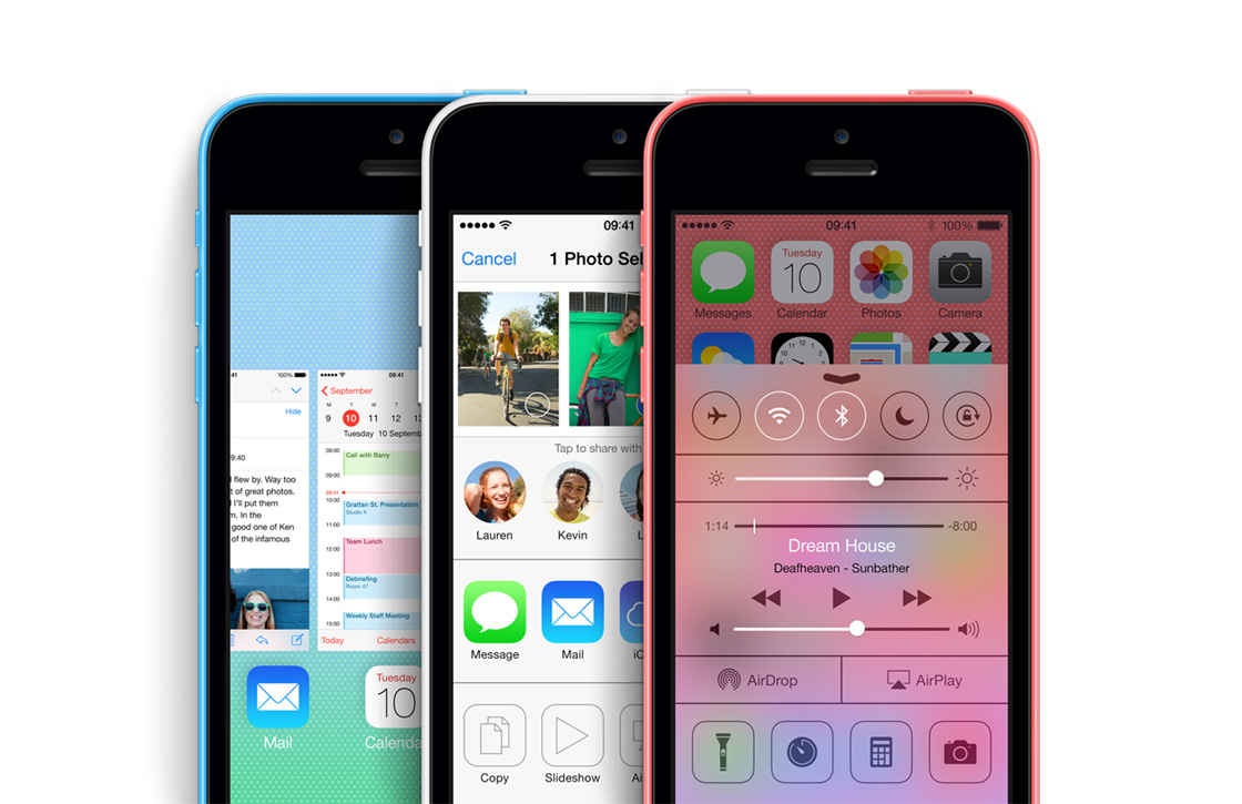 iPhone 5C en iOS 7: samen ontworpen