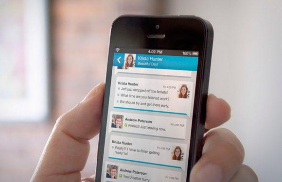 BlackBerry Messenger voor iOS zo lek als een mandje