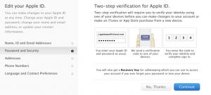 Apple tweestapsverificatie