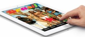 iPad beeldvullende videoadvertenties