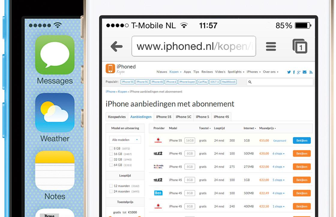 iPhoned lanceert iPhone prijsvergelijker met de beste aanbiedingen!