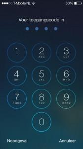iphone beveiligen code