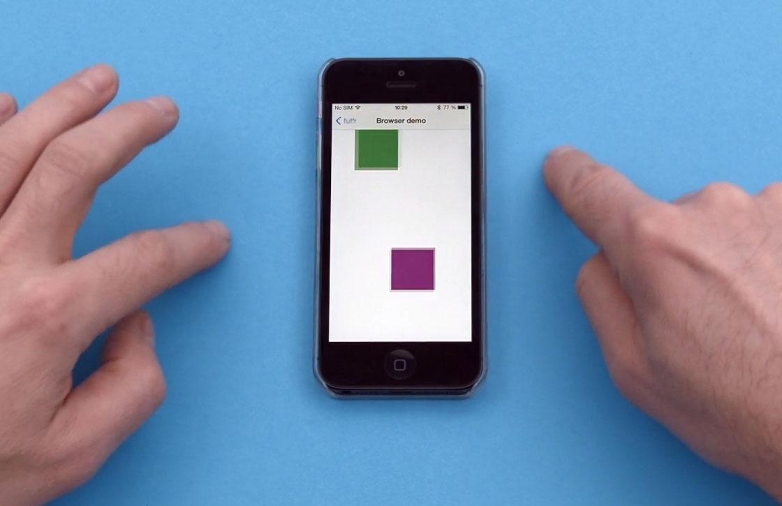 Bestuur je iPhone zonder hem aan te raken met Fuffr