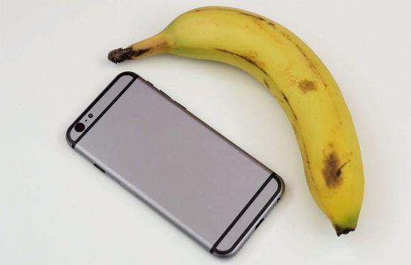 Video: de iPhone 6 vergeleken met een banaan