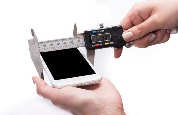 'iPhone 6 opgemeten, is slechts 7 millimeter dik'