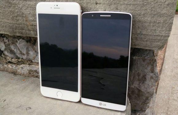 Zo ziet de 5,5 inch iPhone 6 mockup eruit in vergelijking met andere smartphones