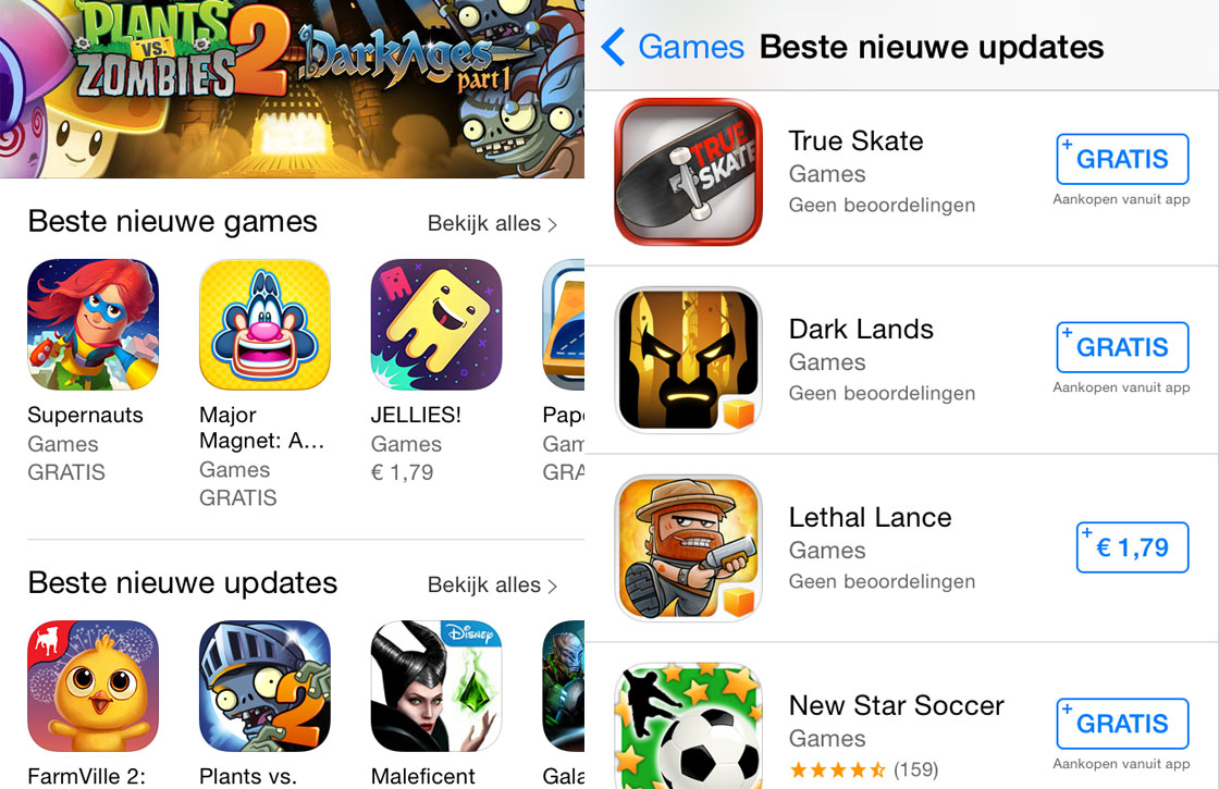 Apple introduceert 'beste nieuwe game-updates' in de App Store