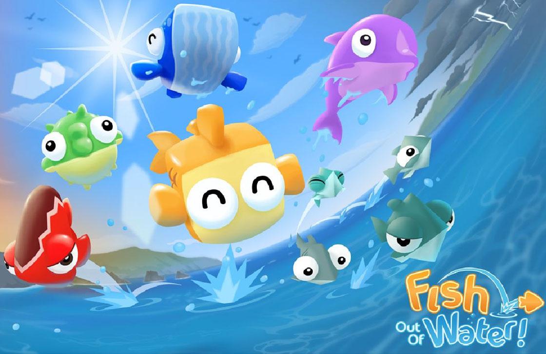 Springen met vissen in Fish Out of Water