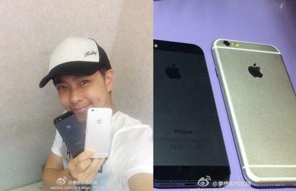 Taiwanees tieneridool toont iPhone 6 op foto's