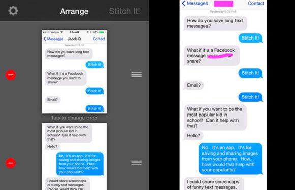 Maak extra lange screenshots van je iPhone met Stitch It!