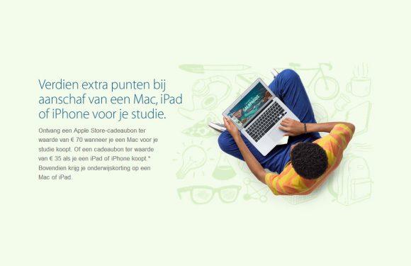 Back to School 2014: Apple deelt weer cadeaubonnen uit