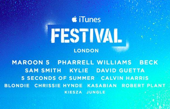 Pharrell Williams en Maroon 5 treden op tijdens het nieuwe iTunes Festival