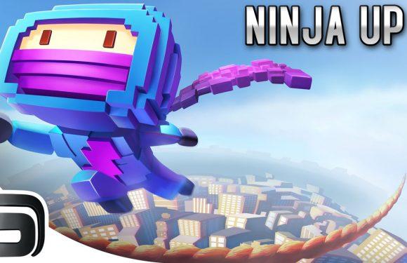 Spring naar grote hoogtes in Ninja Up