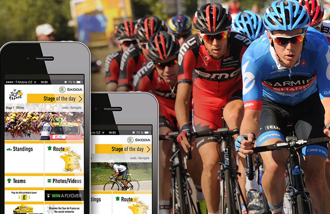 4 iPhone apps om van de Tour de France op de hoogte te blijven